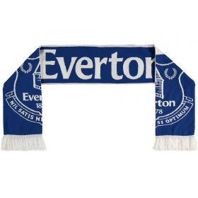 Everton Super Crest Scarf - Royal - Adult