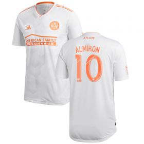 Atlanta United Authentic Away Shirt 2018 with Almirón 10 printing