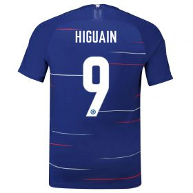 Chelsea Home Cup Vapor Match Shirt 2018-19 with Higuain 9 printing