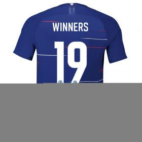 Chelsea Home Cup Vapor Match Shirt 2018-19 with Winners 19 printing