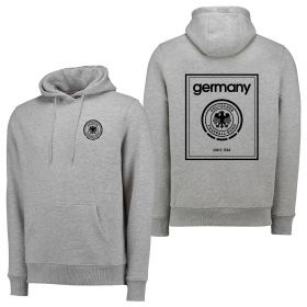 DFB Black To Front Hoodie - Grey Marl - Mens
