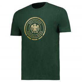 DFB Gold Crest T Shirt- Dark Green - Mens