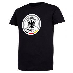 DFB Large Crest Short Sleeve T Shirt - Black - Kids
