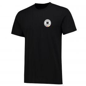 DFB Small Crest Short sleeve T Shirt - Black - Mens