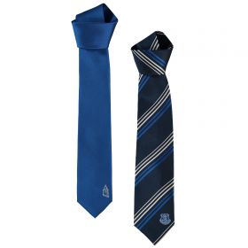 Everton Polyester Tie - 2 Pack