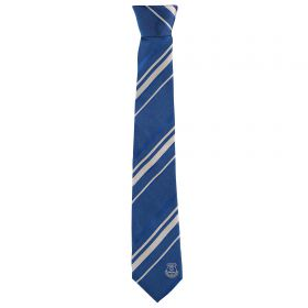 Everton Silk Stripe Tie - Blue/White