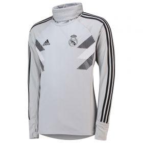 Real Madrid Pre Match Warm Top - Grey