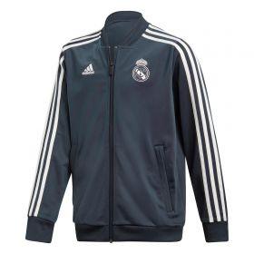 Real Madrid Training Knitted Presentation Jacket - Dark Grey - Kids