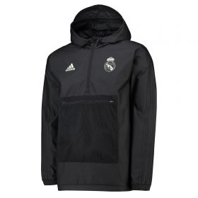 Real Madrid Wind Jacket - Black