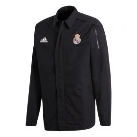 Real Madrid ZNE Woven Anthem Jacket - Black