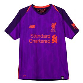 Liverpool Away Shirt 2018-19 - Kids with Virgil 4 printing