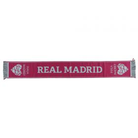 Real Madrid Heart Fan Scarf - Pink - Adult