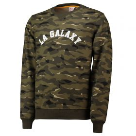 LA Galaxy Camo Crew Neck Sweatshirt - Khaki - Mens