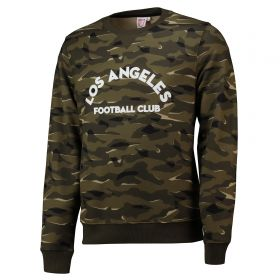 Los Angeles FC Camo Crew Neck Sweatshirt - Khaki - Mens