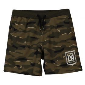 Los Angeles FC Camo Sweat Shorts - Khaki - Kids
