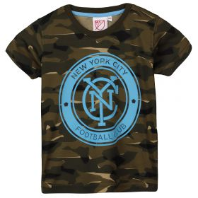 New York City FC Camo Short Sleeve T-Shirt - Khaki - Kids