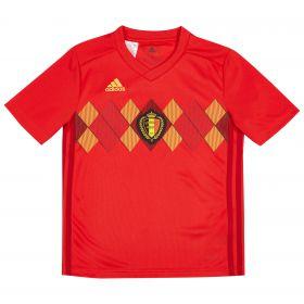 Belgium Home Shirt 2018 - Kids with Hazard 10 printing