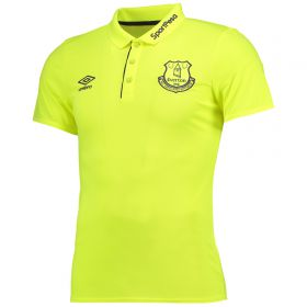 Everton Training Poly Polo - Safety Yellow/Parachute Purple