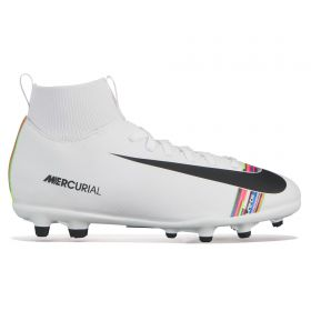 Nike Mercurial Level Up Superfly 6 Club Firm Ground Football Boots - White - Kids