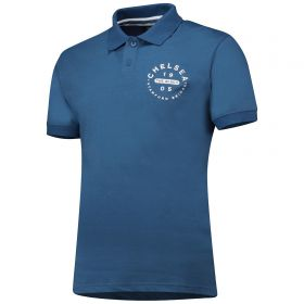 Chelsea Heritage Buttoned Polo Shirt - Blue Marl - Mens