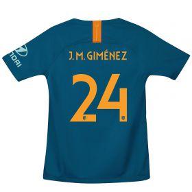 Atlético de Madrid Cup Third La Liga Stadium Shirt 2018-19 - Kids with J.M. Giménez 24 printing
