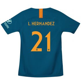 Atlético de Madrid Cup Third La Liga Stadium Shirt 2018-19 - Kids with L. Hernandez 21 printing