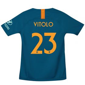 Atlético de Madrid Cup Third La Liga Stadium Shirt 2018-19 - Kids with Vitolo 23 printing