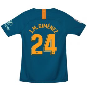 Atlético de Madrid Third Stadium Shirt 2018-19 - Kids with J.M. Giménez 24 printing
