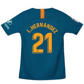 Atlético de Madrid Third Stadium Shirt 2018-19 - Kids with L. Hernandez 21 printing