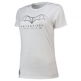 Valencia CF Centenary T-Shirt - White - Womens