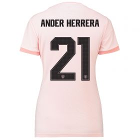 Manchester United Away Cup Shirt 2018-19 - Womens with Ander Herrera 21 printing
