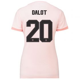 Manchester United Away Cup Shirt 2018-19 - Womens with Dalot 20 printing