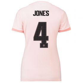 Manchester United Away Cup Shirt 2018-19 - Womens with Jones 4 printing