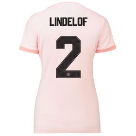 Manchester United Away Cup Shirt 2018-19 - Womens with Lindelof 2 printing
