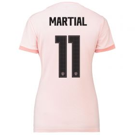 Manchester United Away Cup Shirt 2018-19 - Womens with Martial 11 printing