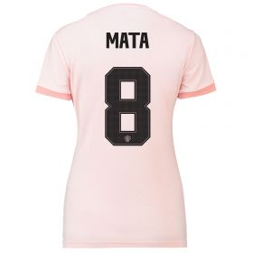 Manchester United Away Cup Shirt 2018-19 - Womens with Mata 8 printing