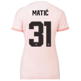 Manchester United Away Cup Shirt 2018-19 - Womens with Matic 31 printing
