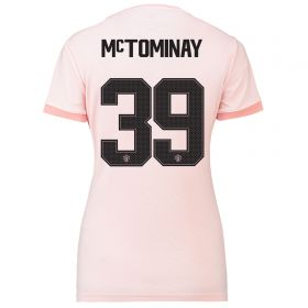 Manchester United Away Cup Shirt 2018-19 - Womens with McTominay 39 printing