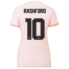 Manchester United Away Cup Shirt 2018-19 - Womens with Rashford 10 printing