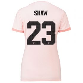 Manchester United Away Cup Shirt 2018-19 - Womens with Shaw 23 printing