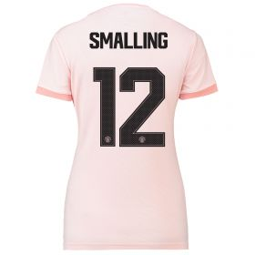 Manchester United Away Cup Shirt 2018-19 - Womens with Smalling 12 printing