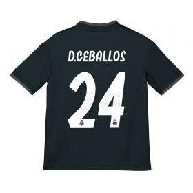Real Madrid Away Shirt 2018-19 - Kids with D. Ceballos 24 printing