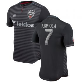DC United Authentic Home Shirt 2018 with Arriola 7 printing
