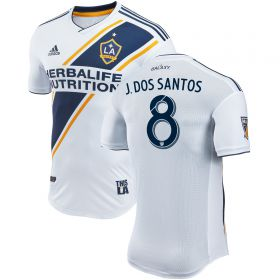 LA Galaxy Authentic Home Shirt 2018 with J. Dos Santos 8 printing