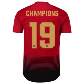 Manchester United Home Cup Authentic Shirt 2018-19 with Champions 19 printing