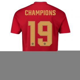 Manchester United Home Cup Shirt 2018-19 with Champions 19 printing