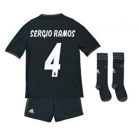 Real Madrid Away Kids Kit 2018-19 with Sergio Ramos 4 printing