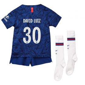 Chelsea Home Cup Stadium Kit 2019-20 - Little Kids with David Luiz 30 printing