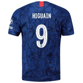 Chelsea Home Cup Stadium Shirt 2019-20 with Higuain 9 printing