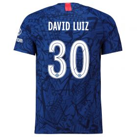 Chelsea Home Cup Vapor Match Shirt 2019-20 with David Luiz 30 printing